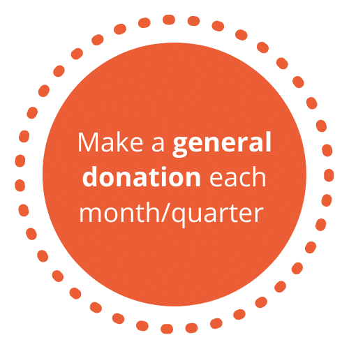 Make a donation each quarter