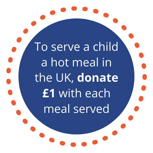 donate £1 with each meal served